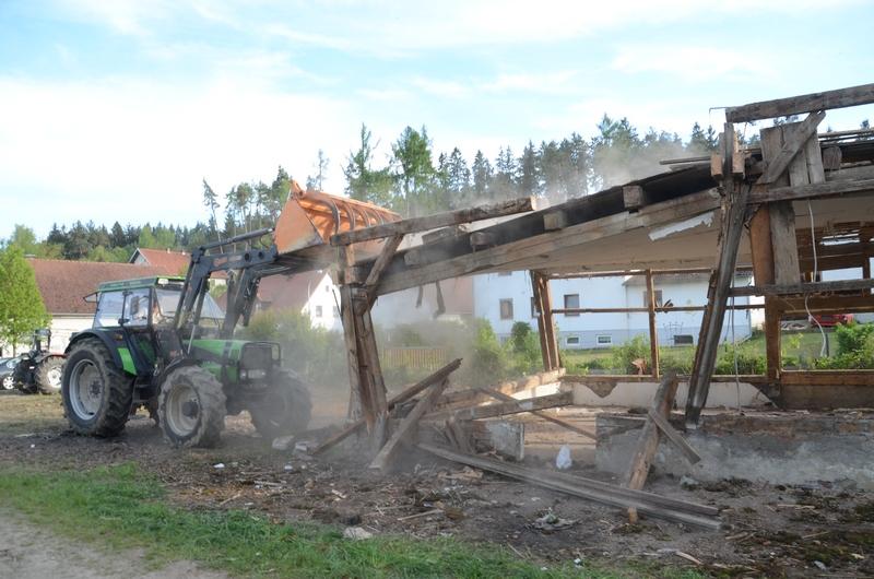 Abriss Stadl im Mai 2017
